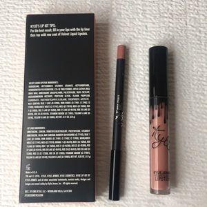 Kylie Cosmetics Makeup - Kylie Jenner velvet liquid lip kit BARE color